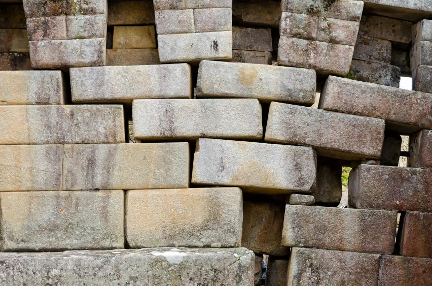 Machu Picchu shifting stones
