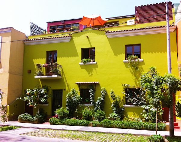 Casa Nuestra's Colourful Exterior