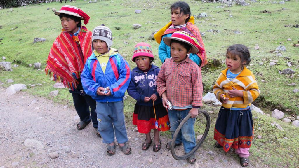 Patacancha children ponchos